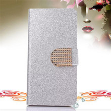 3GS Bling Rhinestone PU Leather Case For Apple Iphone 3 3G 3GS Cover Original Flip Stand Wallet Phone Coque With Card Slot