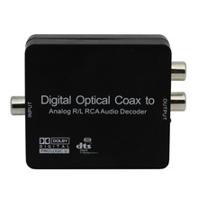 Digital to Analog Audio Decoder Converter Adapter Coaxial/Optical Toslink SPDIF to Stereo 3.5mm Jack or L/R RCA Audio