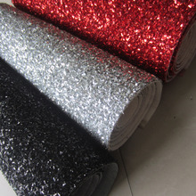 30cm x 126cm tinsel glitter PU leather fabric for christmas decorate AY113(China)