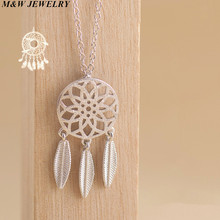 M&W JEWELRY unique Mesh type pendant 925 sterling silver 2017 fashion for women necklace small fresh accessories Jewelry(China)
