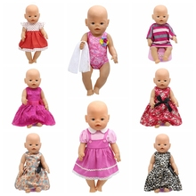 Baby Born Doll Accessories 15 Styles Princess Dress Doll Cothes fit 43cm Baby Born Zapf Doll Clothes Birthday Gift D5(China)