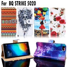 Cell Phone Bags Cases For BQ Strike BQS-5020 BQS 5020 BQS5020 Housing Covers Flip PU Leather Shell Cover For BQ Strike 5020 Case