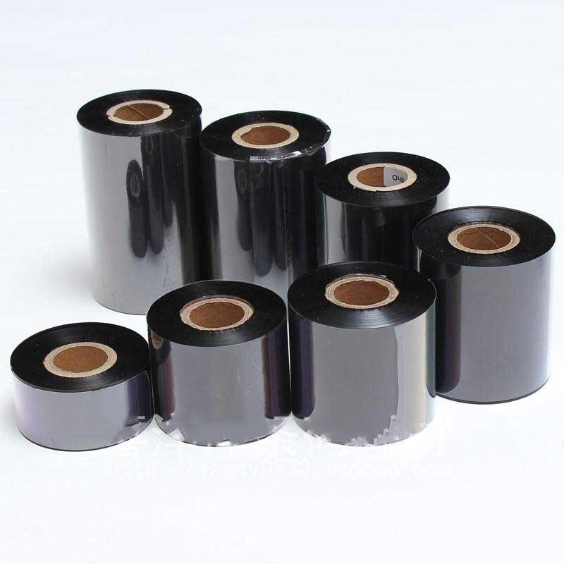 Resin black ribbon 110*300M for Godex barcode label printer can print adhesive paper silver PET PVC jewellery tag<br>