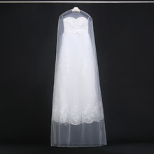 160cm 180cm Transparent Wedding Dress Dust Cover Soft Tulle Garment Bags Bridal Gown Scratch Resistant Net Yarn Bag 20pcs ZA1822(China)