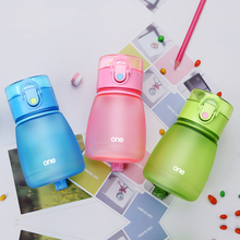 Baby Water Bottle Plastic 308ml leak-proof Sports Drinking Bottle Child Tea Tumbler Cycling Plastic Kettle Sport Pot Pill Box(China)