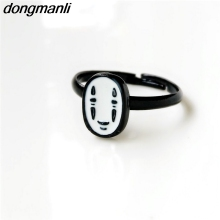 P310 dongmanli cute Chihiro No Face man Ring Miyazaki Hayao Anime for women ids Adjustable Ring(China)