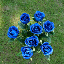 Wholesale Wedding Decoration Mariage Cheap Artificial Flower 24.8''PU Latex Open Rose Stem 40 Pcs Touch Feel Party Decoration