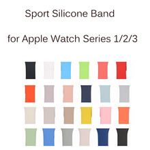 Replacement Sport Silicone Strap for Apple Watch Band Strap Bracelet for iWatch Series 1/2/3 Wristband 42mm 38mm(China)