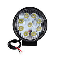 27W LED Car Work Light 12V Round Square Spot Work Light Bar For Automobile Motorcycle Lamp For Jeep Toyota SUV 4WD Car-Styling
