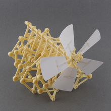 DIY Creature Puzzle Wind Powered Walker Strandbeest Assembly Powerful model Kits Toy Children Gift Drop Shipping