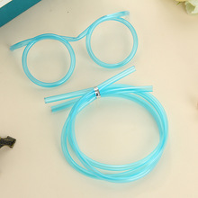 20PCS Funny Soft Straw Glasses Plastic Drinking Straws Unique Flexible Drinking Tube Kids birthday Party supplies Accessories(China)
