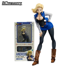 Anime Dragon Ball Z Android NO.18 PVC Action Figure Collectible Model Toys(China)