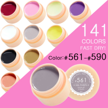 CANNI Nail Painting Gel Varnish 141 Pure Colors Gelpolish UV LED Soak Off  Gel Nail Polish Color(561-590)