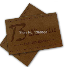 Customize button leather card jeans business casual leather labels customize garment label/jeans leather labels LL004