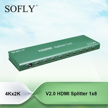 1X8 hdmi splitter wih 1 signal input 8 signal output Support Blue-Ray 24/50/60fs/HD-DVD/xvYCC