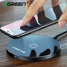 [Qi Wireless Charger 10W],Ugreen Original Wireless Charger for iPhone 8/X Charging Pad for Samsung Galaxy S8 Edge Plus Charging(China)