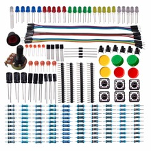 DSD Digital Electronics Component Basic Starter Kit with Resistor Capacitor LED Diode transistor and Dupont Cable for M-09A(China)