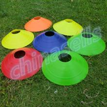 20cm 10pcs Soccer Space Markers Cones Rugby Speed Training Disc Cone Plate Outdoor Sport Football Cross Speed Training Equipment(China)