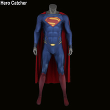 Hero Catcher High Quality 3D Print Superman Costume Man of Steel Cosplay Costume Superman Suit With 3D Logo Custom Made Superman