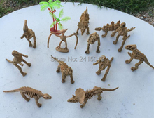 Free ship 12x New skeleton dinosaurs pinata toy loot bag party fillers Halloween kid party favors