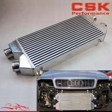 "Twin Turbo FMIC Intercooler For Audi S4 300ZX Z32 Twin Inlet & Outlet 2.5"" Alloy(China)"
