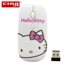Hot Sale Hello Kitty Patten 2.4Ghz Wireless Mouse Optical Mouse For Children Laptop PC Computer Mouse Free Shiping