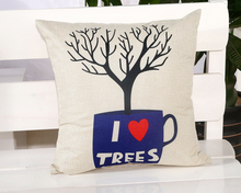 I Love Trees Lovers Message Hold Pillow Massager Emoticon Throw Emoji Body Neck Pillow Massage Euro Case Cover Travel(China)