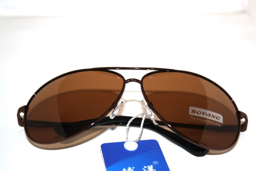 2014 REAL PHOTO Polarized square simple design mens driving fishing UV400 UV 100% navigationsunglasses with test card brown<br><br>Aliexpress