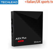 A5x Android 7.1 Arabic iptv box with Iview hd European Sports channel Germany Italy Turkish program UK greek USA tv package code