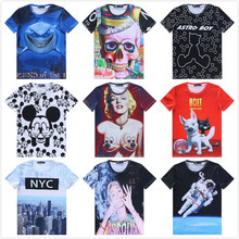[Elmo]Hot! Fashion 2015 New Men/women t shirt Miley Cyrus/cartoon/NYC O-Neck Short 3D  Casual blouse tshirt Monroe ropa hombre