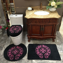New 4Pcs/Set Soft Thicken Waterproof Toilet Seat Cover Bathroom Mat Toilet Set Lid Cover Bath Rug Toilet Cushion Ring Pad(China)