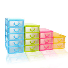1PC Mini Durable Plastic Mini Desktop Drawer Sundries Case Small Objects To organize beads pills rings necklace makeup organizer(China)