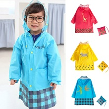 New Arrival Cute Kids Raincoat Girls Boys Rainwear Cartoon Children Waterproof Rain Coat Jacket Free Shipping(China)