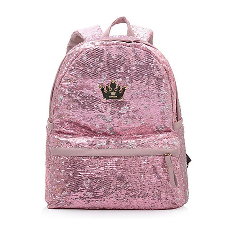 High Quality Sequin Backpacks Women Pu Leather  Backpack Student School Bags for Teenage Girls Cute Mochila Femina B15363<br><br>Aliexpress