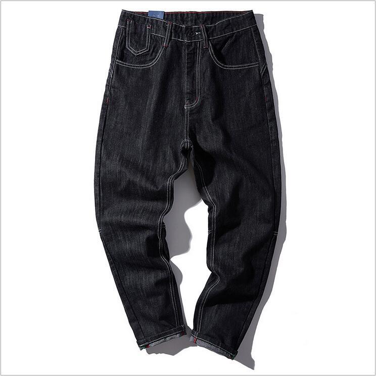 LensTid Design Casual Men Harlan Jeans Pants Cotton Loose Male Pant Straight Trousers Fashion Pockets Solid Color Pants #D5137Одежда и ак�е��уары<br><br><br>Aliexpress