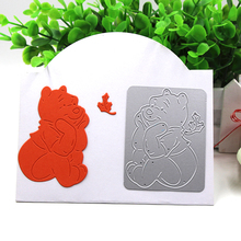 2017 Lovely Bear Metal Cutting Dies Stencils for DIY Scrapbooking/photo album Decorative Embossing DIY Paper Cards Craft Gift