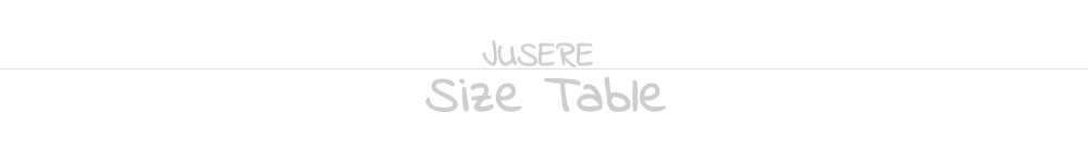 7.Size table