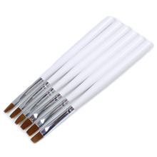 6pcs Detachable UV Gel Brushes Set Acrylic Nail Art Design Builder DIY Nail Tools Nail Gel Nail Art Brush Pen