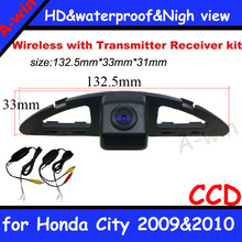 night vision car backup camera security system Wireless car backup parking camera  For Honda City 2009&2010 Free shipping