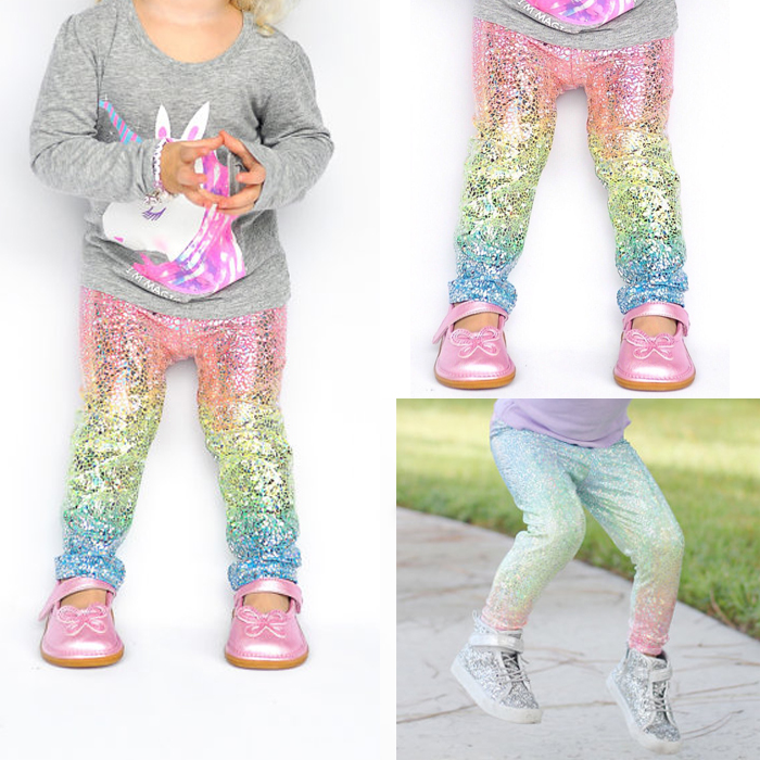 1-6 Y Toddler Kids Baby Girl Sequin Hooded Tops Pants Leggings Outfits Clothes