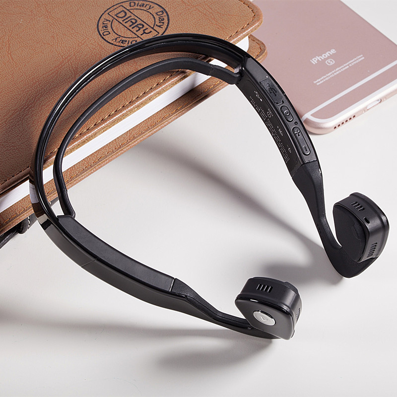 Sware Bone Conduction Earphones Bluetooth 4.0 Wireless Sport Headphones With Stereo Support Music Phone Call white/black color<br>
