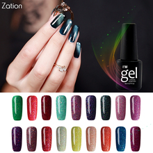 Buy Zation Bling Neon Nail Gel Colorful Nail Polish Colors Nail Art Glitter Varnish Gel polish Fluorescence Glow Lacquer Enamel Base for $1.18 in AliExpress store