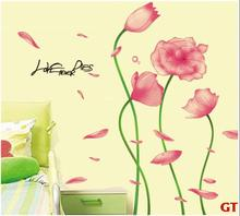 New Red And Yellow Flowers Home Decoration Fashion Wall Stickers Factory Outlets