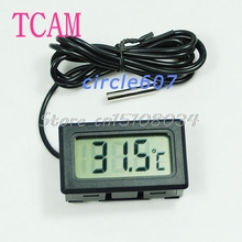 New Aquarium LCD Digital Thermometer Fish Tank Water #S018Y# High Quality