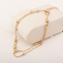 2017 New Fashion Footwear Jewelry Punk Style Gold / Silver Two-color Chain Ankle Exquisite Bracelet Free Shipping Bracelet(China)