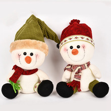 1 pc Christmas Couples Snowman plush Dolls Baby Plush Toy Cute Lovely Stuffed Toys Kids Girls Birthday Christmas Gift(China)