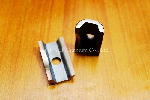 Titanium TC4 Bicycle C Folding Hinge Clamp Brushing Surface 45.6g/pair for Bike Brompton<br>