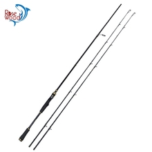 ROSEWOOD Brand (Medium & Medium Heavy) 2 Tip Fishing Rod Black & White 2.1m Spinning Casting Fishing Rod For Bass Trout Fishing