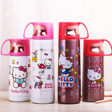 Hello Kitty Thermos Bottle Cup Coffee Mog With Lid Water Kettle for Kids Insulated  Vacuum Flask Thermo Flasks Drinkware Bottle