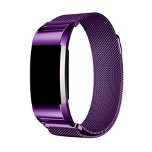 LNOP Milanese Loop Wrist Band Strap for Fitbit Charge 2 Link Bracelet Stainless Steel replacemet bands Magnetic Closure